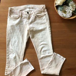 Current Elliott Light Pink White Skinny Jean